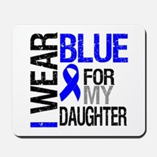 I Wear Blue Daughter Mousepad