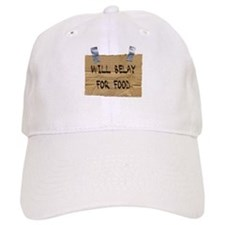 WILL BELAY FOR FOOD Baseball Cap