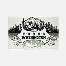 Forks, WA Bear Rectangle Magnet