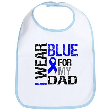 I Wear Blue Dad Bib