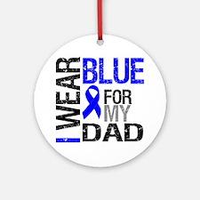 I Wear Blue Dad Ornament (Round)