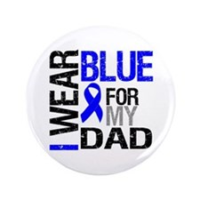 "I Wear Blue Dad 3.5"" Button"