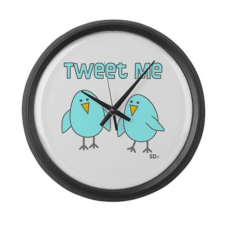 Tweet Me Large Wall Clock