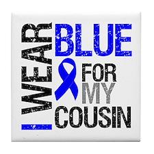 I Wear Blue Cousin Tile Coaster