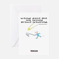 Enthusiasm White Greeting Cards (Pk of 10)