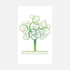Be [Eco]Logical - Tree Rectangle Sticker 10 pk)