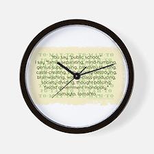 Tomayto Tomahto Wall Clock