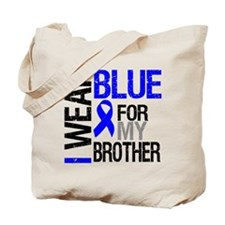I Wear Blue Brother Tote Bag