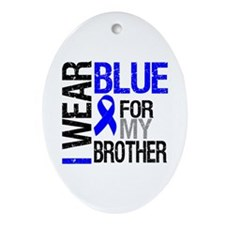 I Wear Blue Brother Oval Ornament