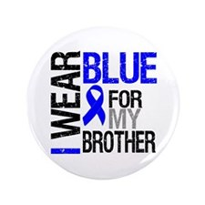 """I Wear Blue Brother 3.5"""" Button"""