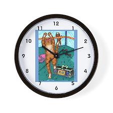 AEROBICS CAT Wall Clock