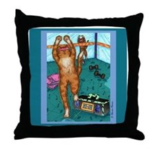 AEROBICS CAT Throw Pillow