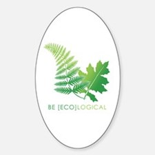 Be [Eco]Logical - Leaves Oval Decal