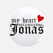 """My Heart Belongs to a Jonas 3.5"""" Button"""