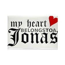 My Heart Belongs to a Jonas Rectangle Magnet
