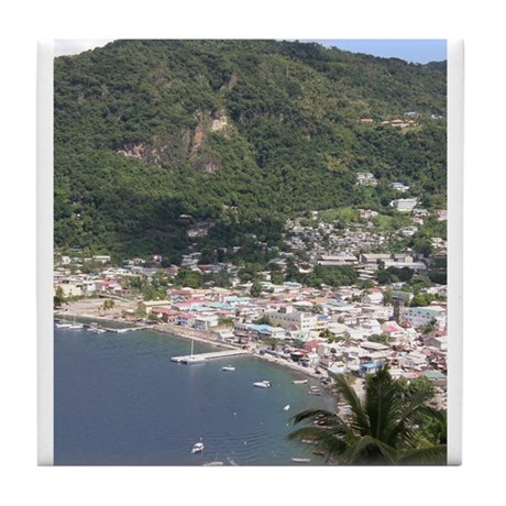 St. Lucia Items Tile Coaster