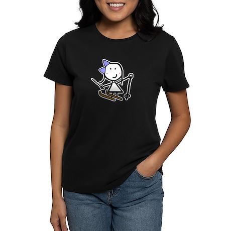 Girl & Skiing Women's Dark T-Shirt
