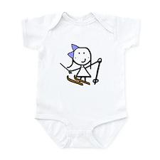 Girl & Skiing Infant Bodysuit