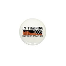 New York Marathon - In Training Mini Button (10 pa