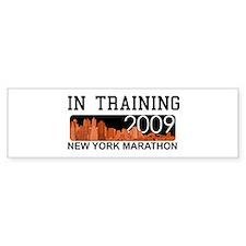 New York Marathon - In Training Bumper Bumper Sticker