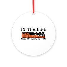 New York Marathon - In Training Ornament (Round)