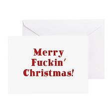 Merry Fuckin' Christmas Greeting Card