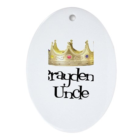 Brayden's Uncle Oval Ornament