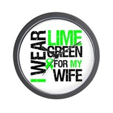 I Wear Lime Green For My Wife Wall Clock