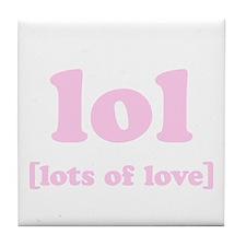 LOL(pink) - Tile Coaster