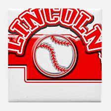 Lincoln Baseball Tile Coaster