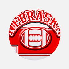 "Nebraska Football 3.5"" Button"