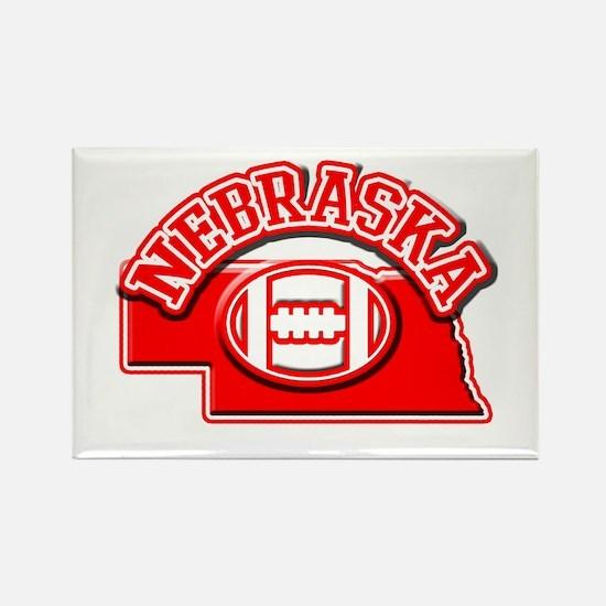 Nebraska Football Rectangle Magnet