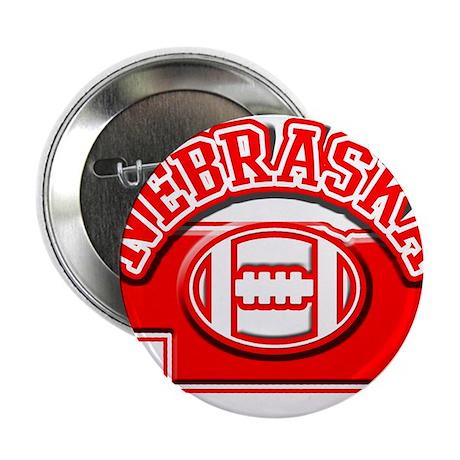 """Nebraska Football 2.25"""" Button (100 pack)"""