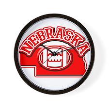 Nebraska Football Wall Clock