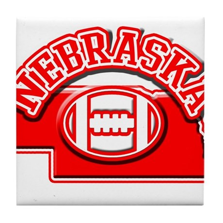 Nebraska Football Tile Coaster