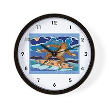 SURF CAT Wall Clock