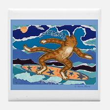 SURF CAT Tile Coaster
