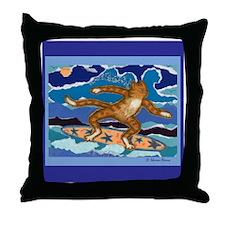 SURF CAT Throw Pillow