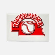 Nebraska Baseball Rectangle Magnet