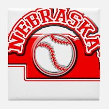 Nebraska Baseball Tile Coaster