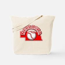 Nebraska Baseball Tote Bag