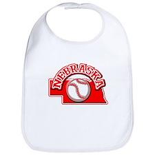 Nebraska Baseball Bib
