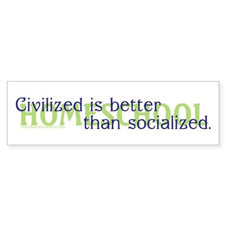 Civilized/II Bumper Sticker