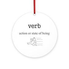 Verb Ornament (Round)