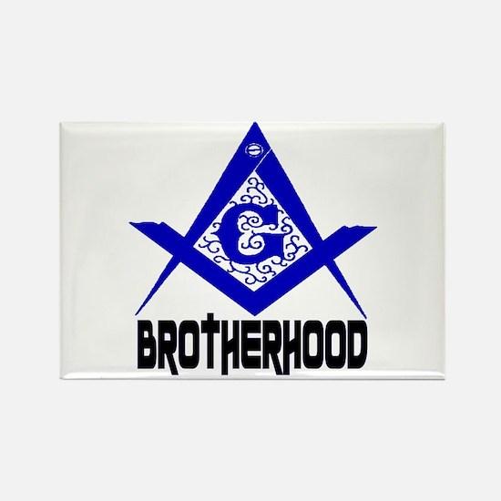 Freemason BROTHERHOOD Rectangle Magnet