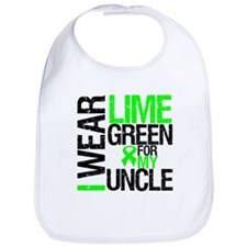 I Wear Lime Green Uncle Bib