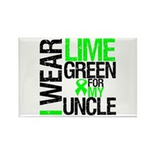 I Wear Lime Green Uncle Rectangle Magnet