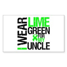 I Wear Lime Green Uncle Rectangle Sticker 10 pk)