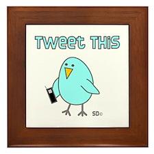 Tweet This Framed Tile