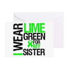 I Wear Lime Green For My Sister Greeting Card